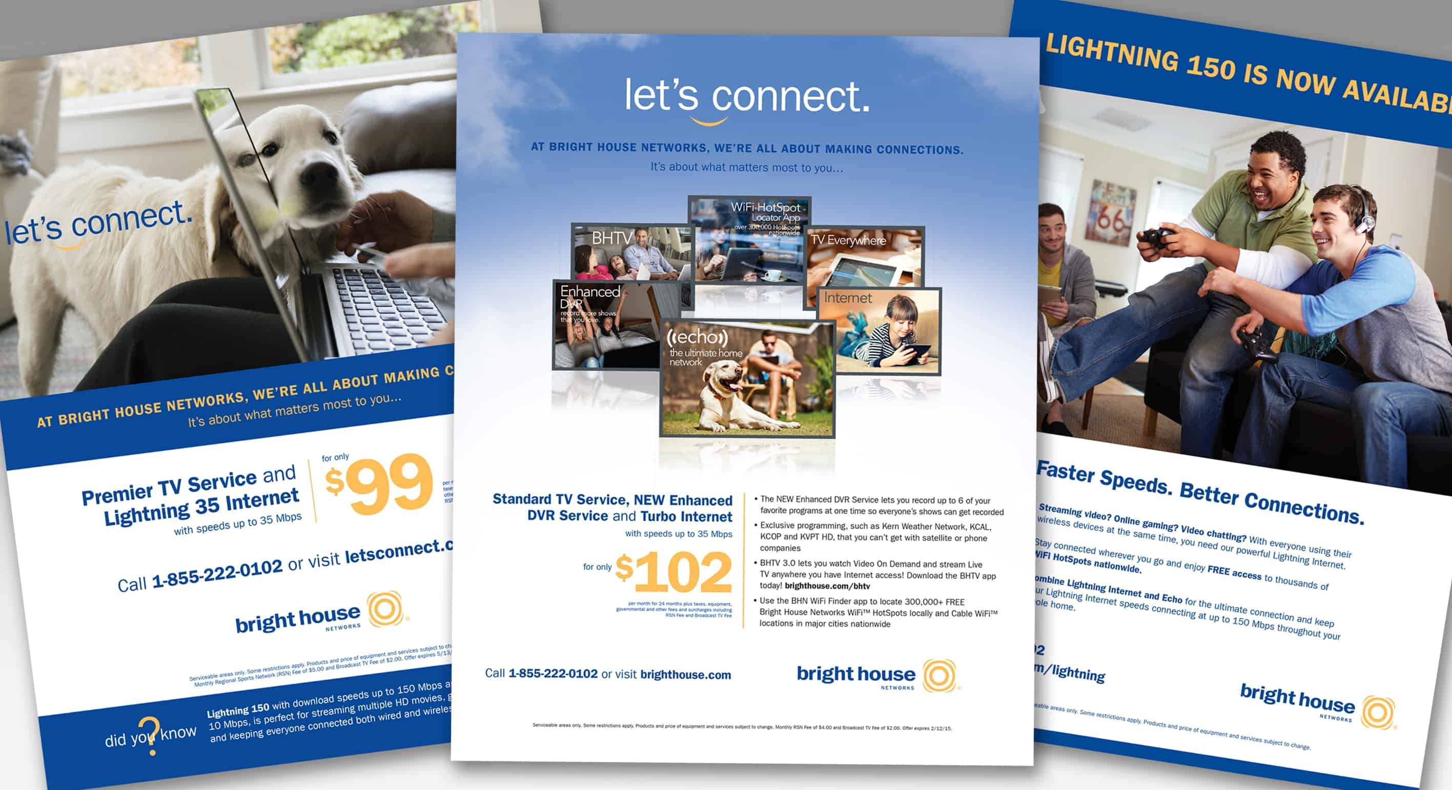 Advertising Graphic Design for Bright House Networks in Clearwater, FL Print and Graphic Designer