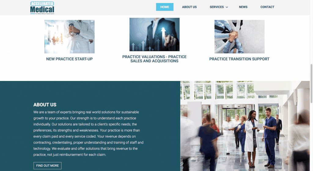 Accelerated Medical_website design
