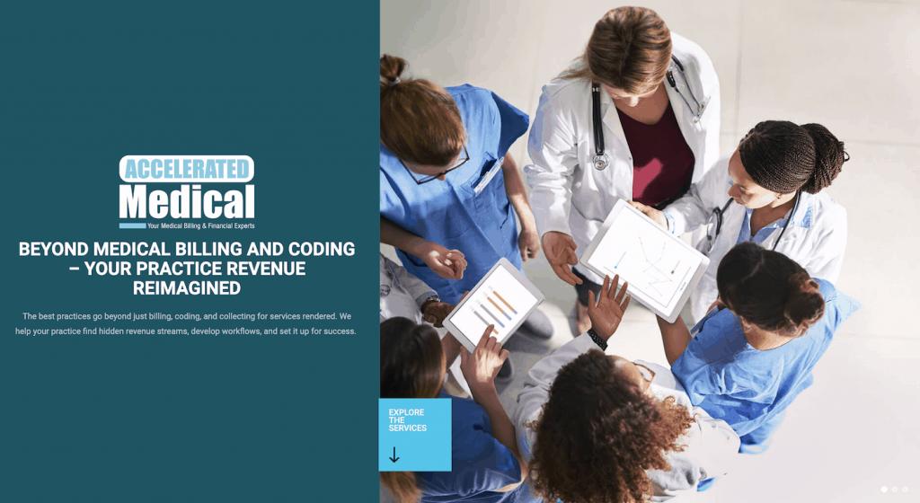 Accelerated Medical_website design